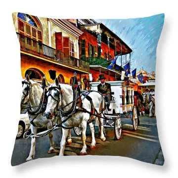The Final Ride Painted Throw Pillow by Steve Harrington
