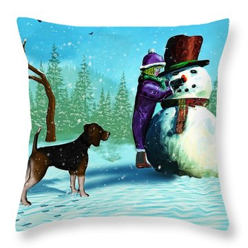 The Final Touches Throw Pillow by Ken Morris