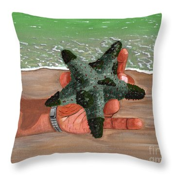 Throw Pillow featuring the painting The Find by Laura Forde