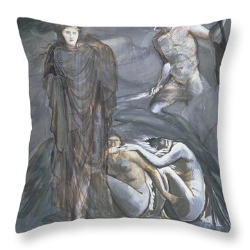 The Finding Of Medusa, C.1876 Throw Pillow by Sir Edward Coley Burne-Jones