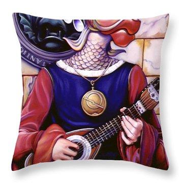 The Finstrel Throw Pillow