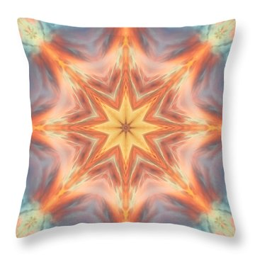 The Fire From Within Mandala Throw Pillow