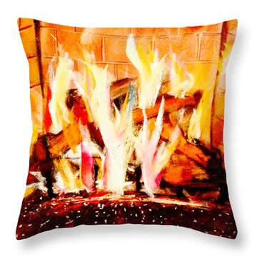 The Firepit Throw Pillow