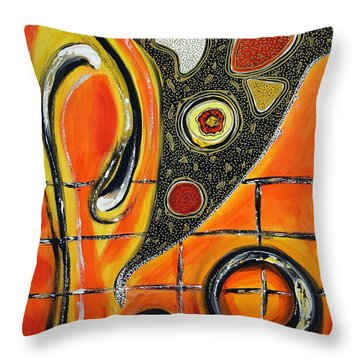 The Fires Of Charged Emotions Throw Pillow