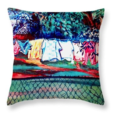 The First Clothing Line  Throw Pillow