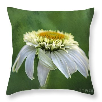 The First Coneflower Throw Pillow