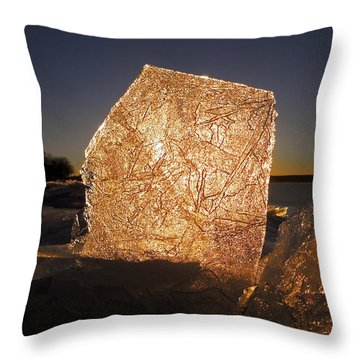 Throw Pillow featuring the photograph The First Ice ... by Juergen Weiss