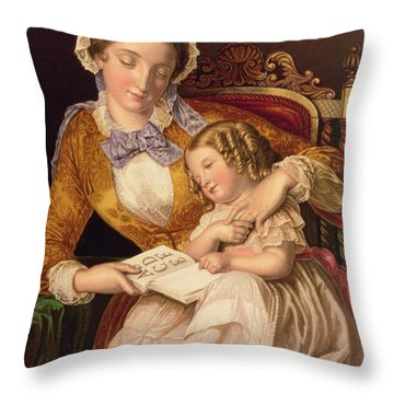Mother And Child Throw Pillows