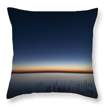 The First Light Of Dawn Throw Pillow