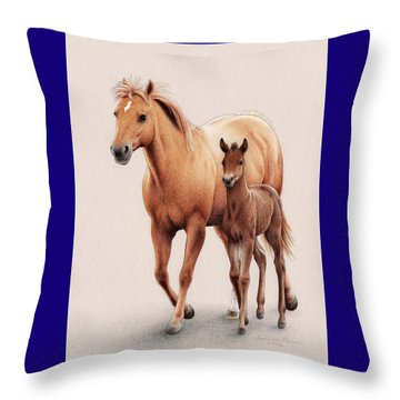 The First Of Spring Throw Pillow