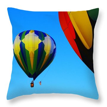 The First One Up  Throw Pillow by Jeff Swan