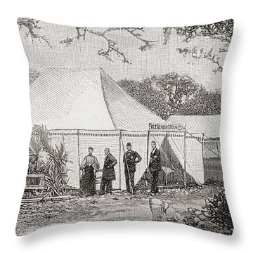 The First Presbyterian Church, Miami, Florida, United States Of America In The Late 19th Century Throw Pillow