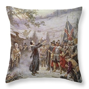The First Sermon Ashore Throw Pillow