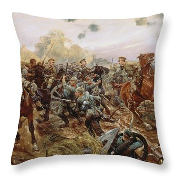 The First Vc Of The European War, 1914 Throw Pillow