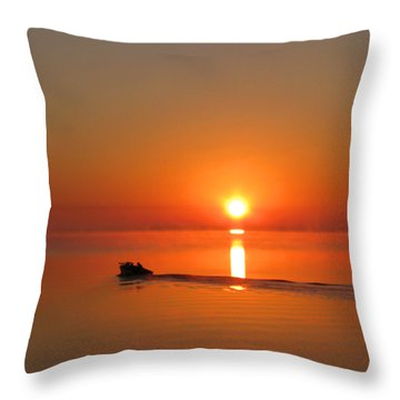 The Fish Are Waiting Throw Pillow