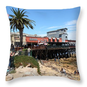 The Fish Hopper Restaurant And Monterey Bay On Monterey Cannery Row California 5d25046 Throw Pillow