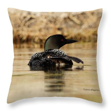 The Fish Went That Way Throw Pillow by Steven Clipperton
