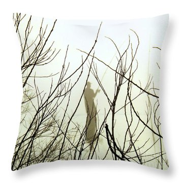 Throw Pillow featuring the photograph The Fisherman by Robyn King