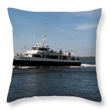 The Fishing Boat 002 Throw Pillow