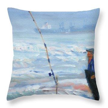 The Fishing Man Throw Pillow