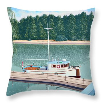 The Converted Fishing Trawler Gulvik Throw Pillow
