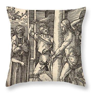 The Flagellation Throw Pillow by Albrecht Durer