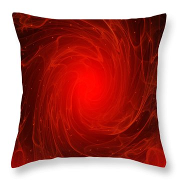 The Flare - Abstract Fantasy By Giada Rossi Throw Pillow by Giada Rossi