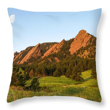 The Flatirons - Spring Throw Pillow