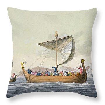 The Fleet Of William The Conqueror Throw Pillow