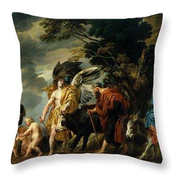 The Flight Into Egypt Throw Pillow by Jacob Jordaens