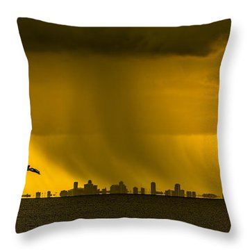 The Floating City  Throw Pillow by Marvin Spates