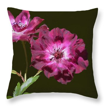 The Floral Duet Throw Pillow