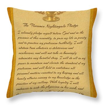 The Florence Nightingale Pledge Throw Pillow