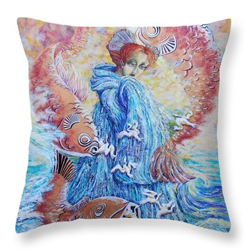 The Flow Of Creativity Throw Pillow by Gail Allen