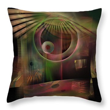 Throw Pillow featuring the digital art The Flower And Willow World by NirvanaBlues