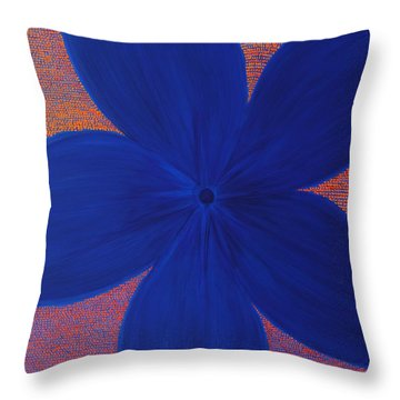 The Flower Throw Pillow