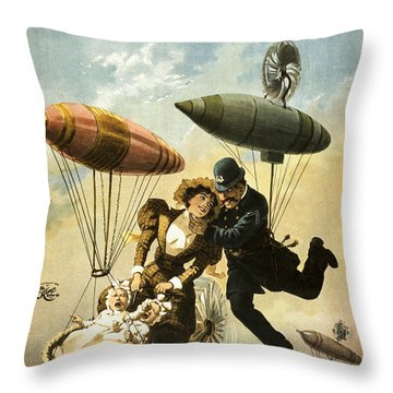 The Fly Cop Throw Pillow by Aged Pixel