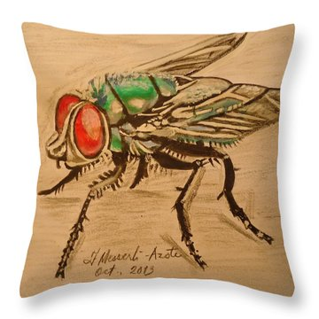 The Fly Throw Pillow by Fladelita Messerli-