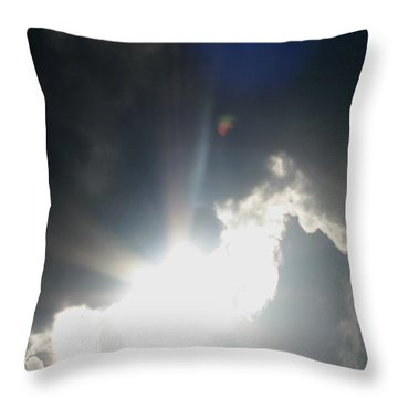 The Flying Man In The Clouds Throw Pillow