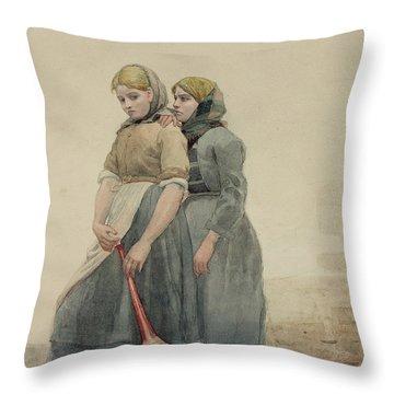 The Foghorn Throw Pillow by Winslow Homer