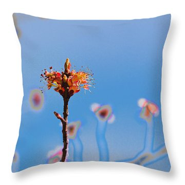 The Following Throw Pillow by Kathy Bassett