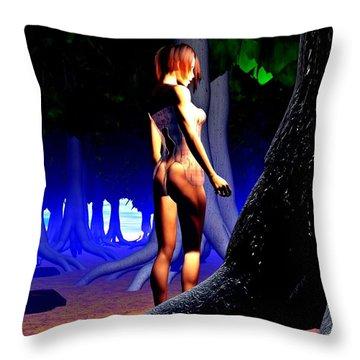 The Forbidden Forest Throw Pillow