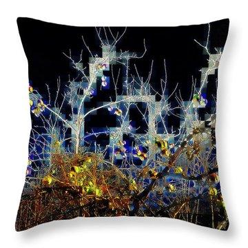 Throw Pillow featuring the photograph The Forbidden Fruit by Jodie Marie Anne Richardson Traugott          aka jm-ART