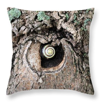 The Forest Is Watching Throw Pillow