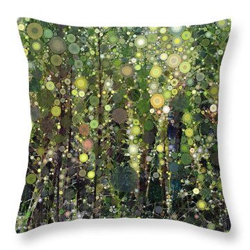 The Forest Throw Pillow by Linda Bailey