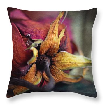 The Forgotten Rose  Throw Pillow