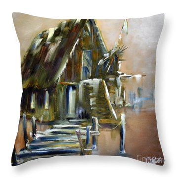 The Forgotten Shack Throw Pillow by David Kacey