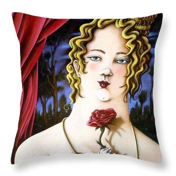 the Forgotten Woman Throw Pillow