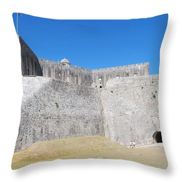 Throw Pillow featuring the photograph The Fort Never Fell by George Katechis