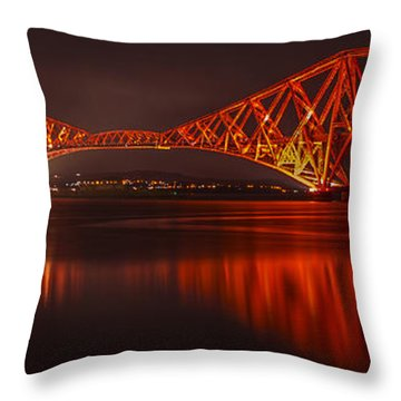 Reflections In Red Throw Pillow